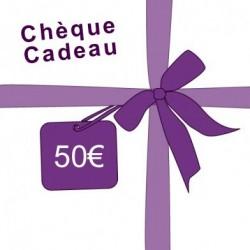 Chèque cadeau : 50€